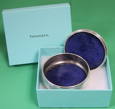 Tiffany & Co. Sterling Silver Trinket Box Jewelry Case with outer Box