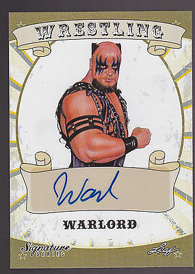 2016 Leaf Wrestling WWE WWF signature series autograph Warlord -A
