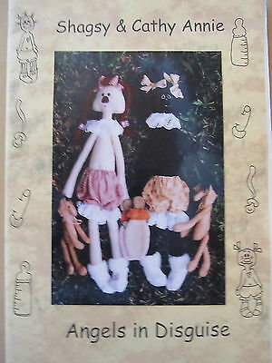 """ SHAGSY & CATHY ANNIE ""  Cloth Doll Pattern by Angels in Disguise"