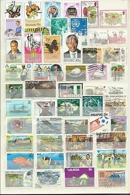 Commonwealth : Collection.. Album Page With Different Modern Used Stamps