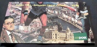 1991 Eire Ireland £2.60 Stamp Booklet Complete With Mnh Stamps, City Of Culture.