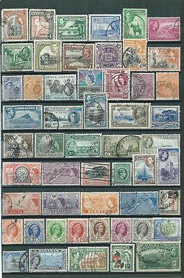 English Colonies : Collection... Album Page With Different Used Stamps