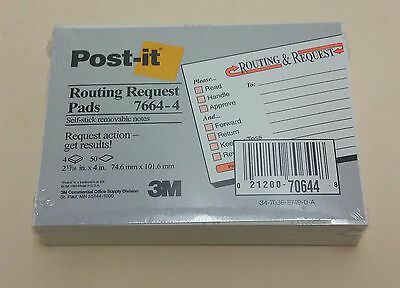 Post-it Routing Request Pads 7664-4