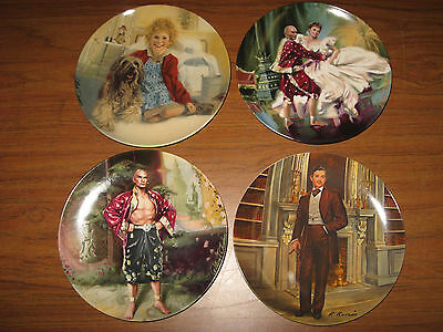 4 Edwin M Knowles Collectible China Annie Sandy Rhett Puzzlement Shall We Dance