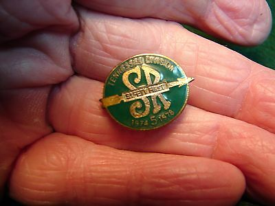 Southern Railway Tennessee Div. 1974-1978 5 Year Service Enamel Safety Pin