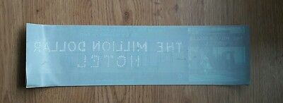 U2 - Million Dollar Hotel  - Promo Window Sticker Rare