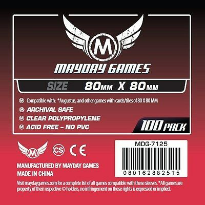 Mayday Games Card Sleeves 80x80mm