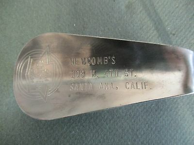 vintage Florsheim shoe horn  NEWCOMBS shoes Santa Ana Calif. shoe horn