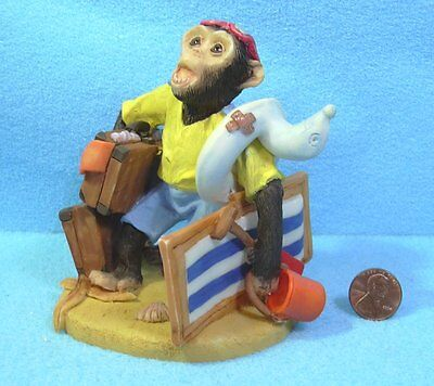 CHIMPANZEE off to the Beach . Ornament