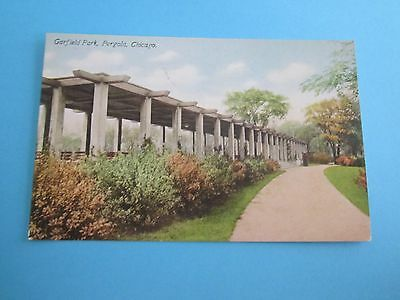 Vintage Postcard of Garfield Park, Pergola, Chicago, Franklin Post Card Co.