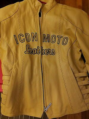 icon motorcycle leather  jacket women small