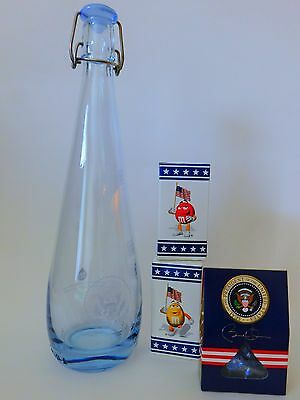 OBAMA presidential NAVY MESS water CARAFE bottle WHITE HOUSE + Air Force One