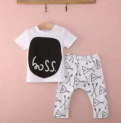 Brand New With Tags Unisex Boss Outfit. Summer 13-18 Months. Top + Pants Set