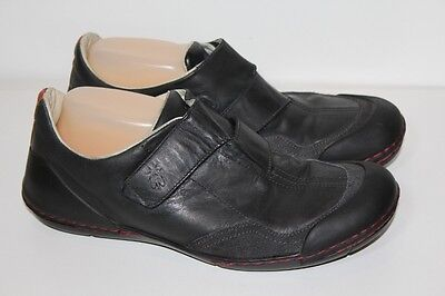 "FLY LONDON ""Fizz"" Men's Black Leather Casual Shoes in Anthrocite Size 44"