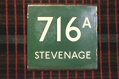 LONDON TRANSPORT GREEN LINE COACH STOP E-PLATE Route 716A STEVENAGE Older type