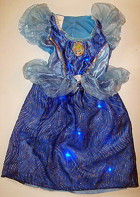 DISNEY Princess CINDERELLA fantasy play COSTUME with working MUSIC & LIGHTS 4-6x