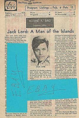 1972 Jack Lord Tv Guide Article Clipping A Man Of The Islands