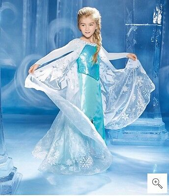 Chasing Fireflies Ultimate Elsa Frozen Disney Gown Costume Sz 4 5 6 NEW $130