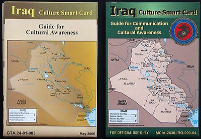 US ARMY & MARINE CORPS 2 dif. Iraq Smart Cards MINT UNUSED Cultural Intelligence