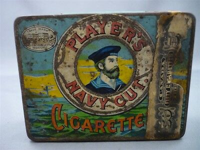 Vintage Player's Navy Cut Cigarette Nottingham England Imperial Tobacco Tin