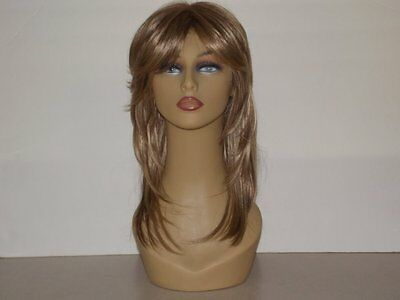 Beautiful Female Mannequin Head With Synthetic Sandy Blonde Wig
