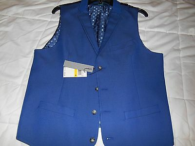 Mens Perry Ellis Vest Size M Nwt Retail $79.50 (Blue)