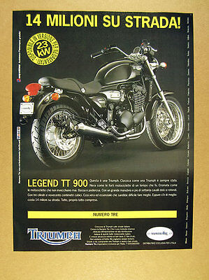 1999 Triumph Legend TT 900 motorcycle photo italian print Ad