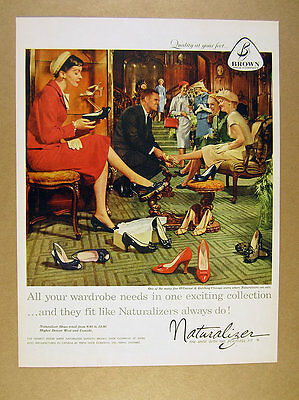 1958 O'Connor & Goldberg chicago shoe store photo Naturalizer Shoes vintage Ad