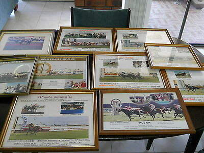 Collection of 10 Horse Racing Framed Pictures