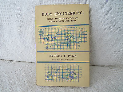 1950 1st edition Body Engineering  Sydney Page British Car antique auto vtg