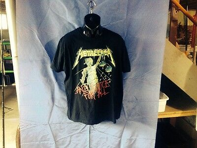 Adult Xl Black Metallica .. And Justice For All 100% Cotton Rock & Pop T-Shirt