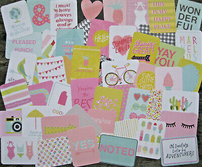 "'happy Place' Project Life Cards By Becky Higgins - 3"" X 4"" - 50 Cards"