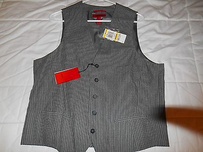 Mens Alfani Red Vest Size M Nwt Retail $79 (Gray Stripe)