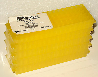 FISHERBRAND MICROCENTRIFUGE 80 WELL YELLOW TUBE RACK 05-541-7 - new old stock