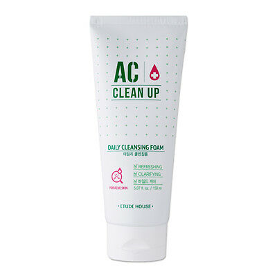ETUDE HOUSE AC Clean Up Daily Cleansing Foam 150ml [For Acne] Korean Cosmetics