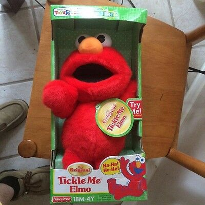 Toys R Us Original Rare Tickle Me Elmo Doll Never Opened Great Collectible