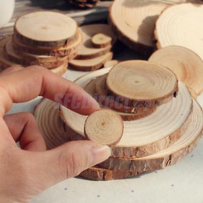 Natural Round Wood Disc Slices Circle Shape Rustic Wedding Hobbies Craft DIY
