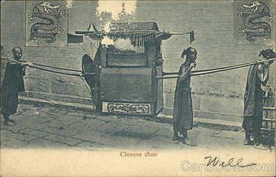 China Chinese chair (Litter) Postcard