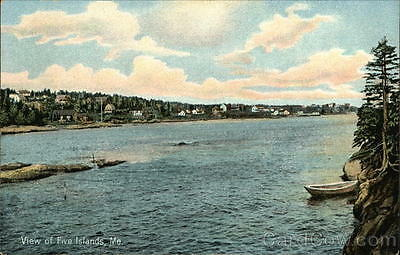 Five Islands ME View of Five Islands HC Leighton Sagadahoc County Maine Postcard