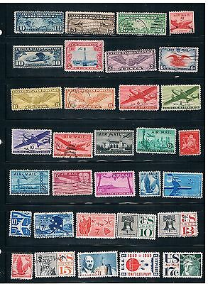 32 Early US Airmail Stamps
