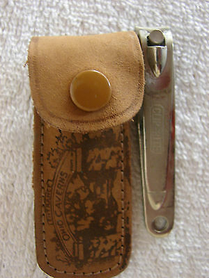 Ohio Caverns of West Liberty Ohio Souvenir Leather Pouch Nail Clippers Vintage