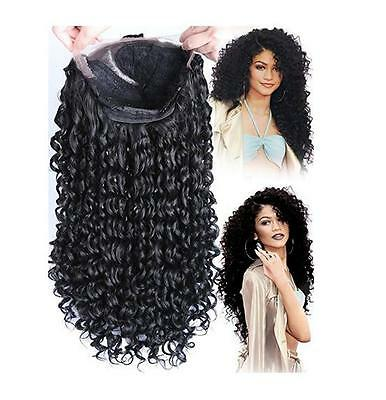 Women's Curly Front Lace Wigs Long Black Heat Resistant Synthetic Wigs Full Wig