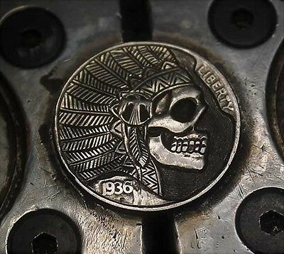 Coalburn classic Hobo Nickel  OHNS Dead Winged Phoenix chief skull