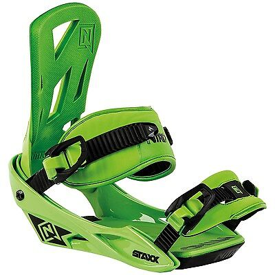 Nitro Snowboard Bindings Green Staxx 2016 Size Med Brand New Never Used