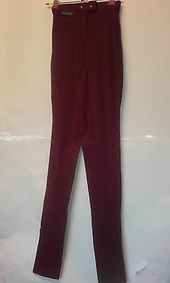 "20""w 30""l Girl Boy Teenager Burgundy Ac Sportswear Horse Riding Jodhpurs - 4"