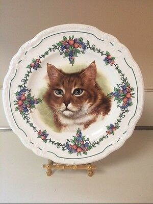 Rare Wedgwood 1925 CAT Collectors PLATE California Etruria England USA Patent