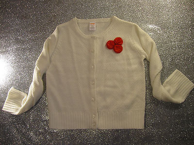 New with tags! Gymboree Girl's Long-sleeve White Cardigan($39.95) / Size: 10
