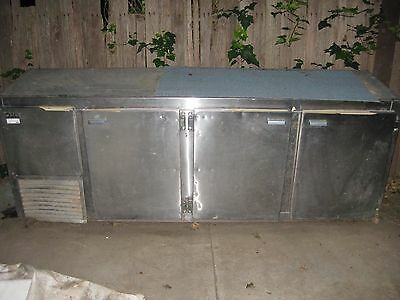 Commercial Catering Fridge Quirk's Stainless Steel 1980s