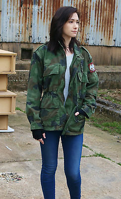 Authentic Serbian Yugoslavian army field jacket coat military camouflage camo
