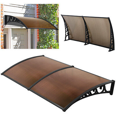 1m x 2m Window Door Canopy Awning Outdoor Patio UV Rain Cover Sunshade Shelter
